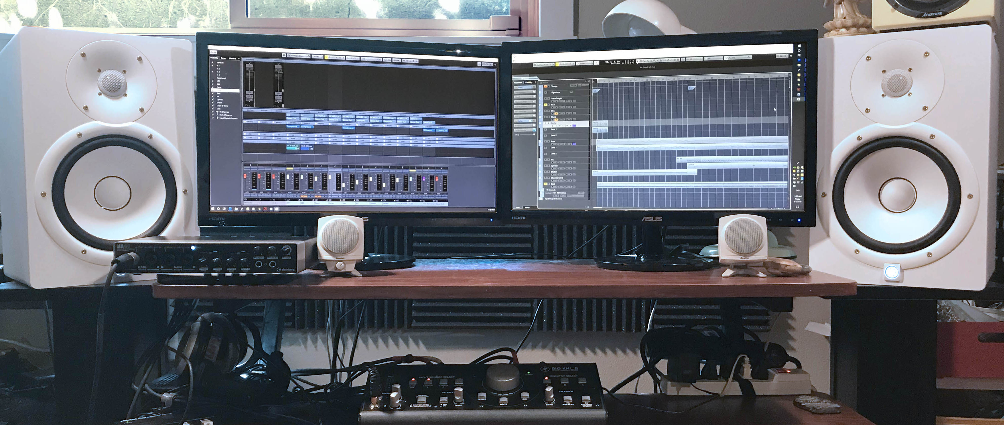 Digital audio workstation running Cubase